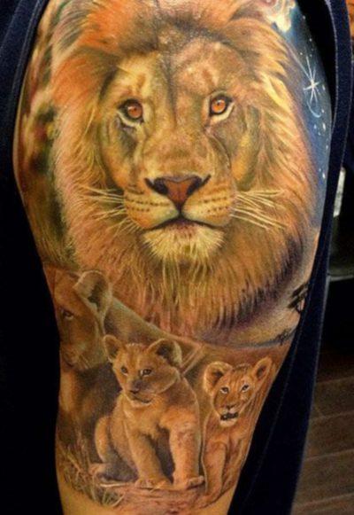 Tatuajes de León de Judá cachorros