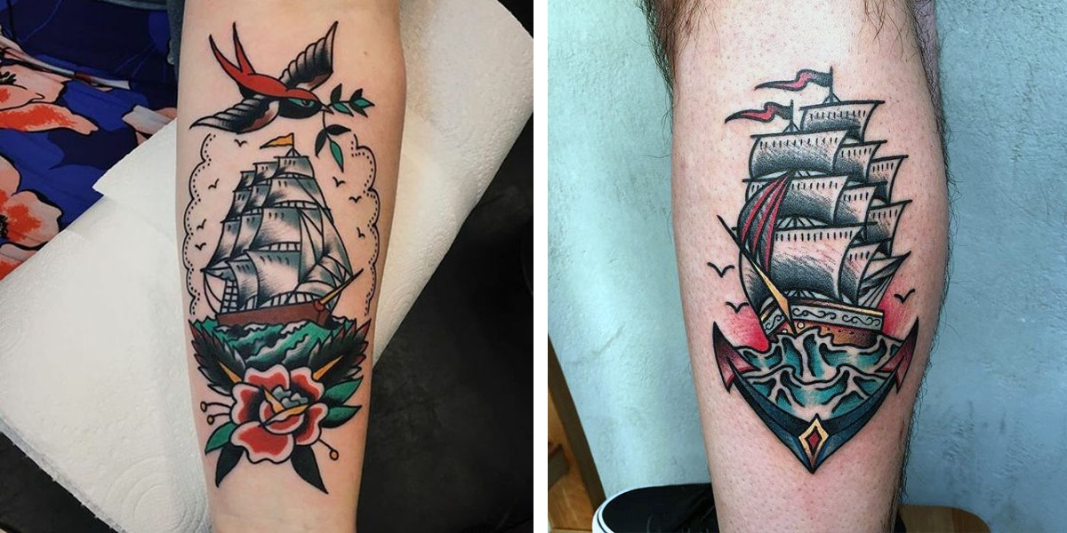 Tatuaje de barcos