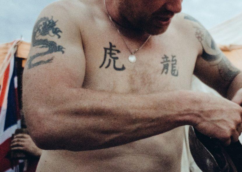 Tatuajes en Chino Pequeños Pecho