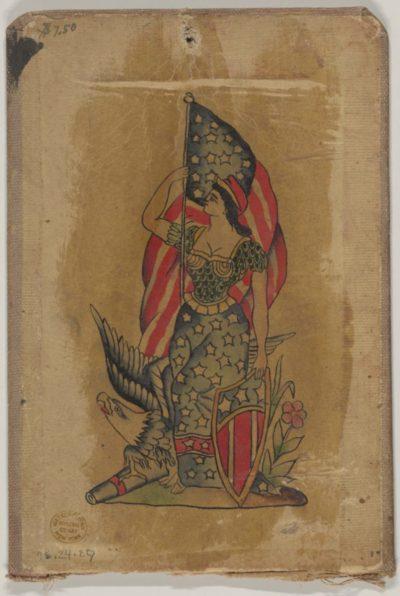 Tatuajes de América bandera