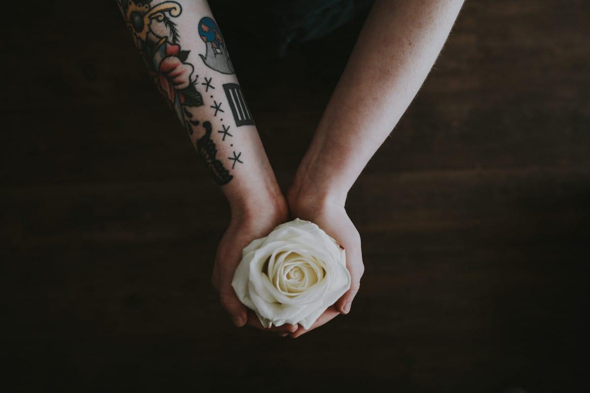 Tatuajes de Flores de Colores