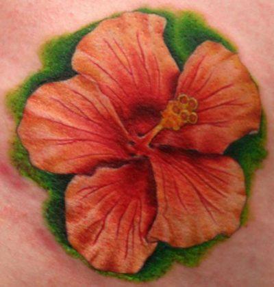 Tatuajes de Flores Exóticas Hibiscus