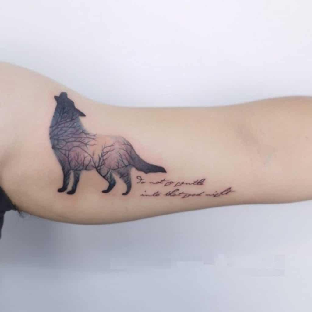 Tatuajes de Animales y Frases Lobo