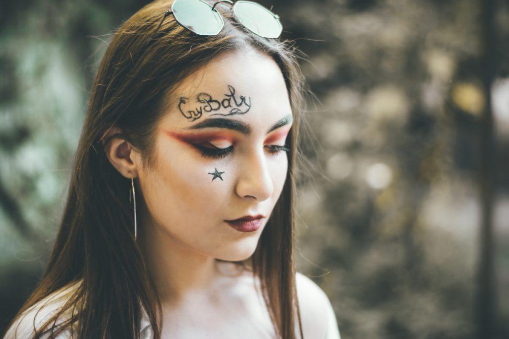 Tatuajes de Estrellas Pequeñas Cara