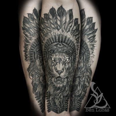 Tatuaje de Indios León