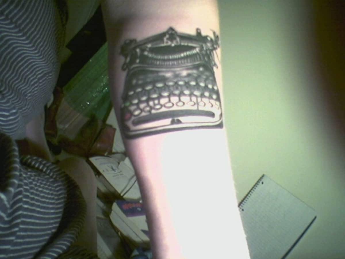 Tatuajes de Máquina de Escribir Brazo