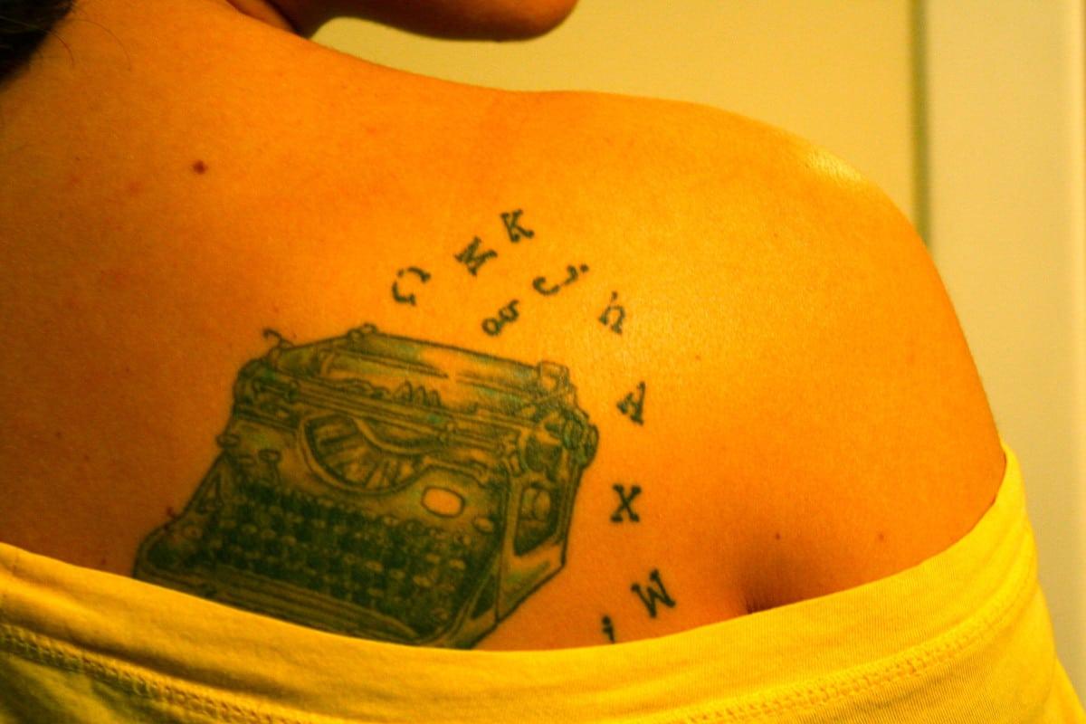 Tatuajes de Máquina de Escribir