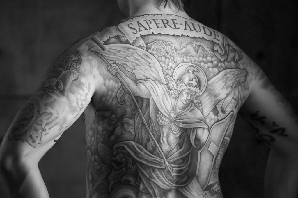 Tatuajes San Miguel Arcángel Blanco