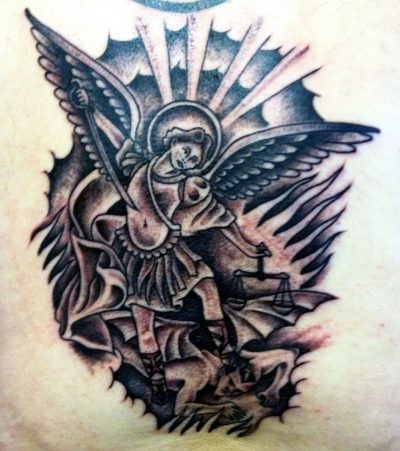 Tatuajes San Miguel Arcángel Diablo