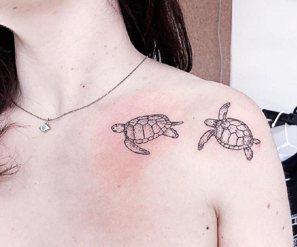 Tatuaje de Tortugas Marinas