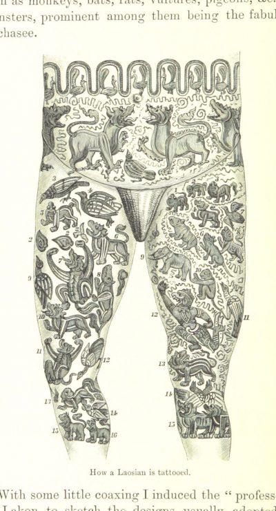 Tatuaje en los Muslos Grande