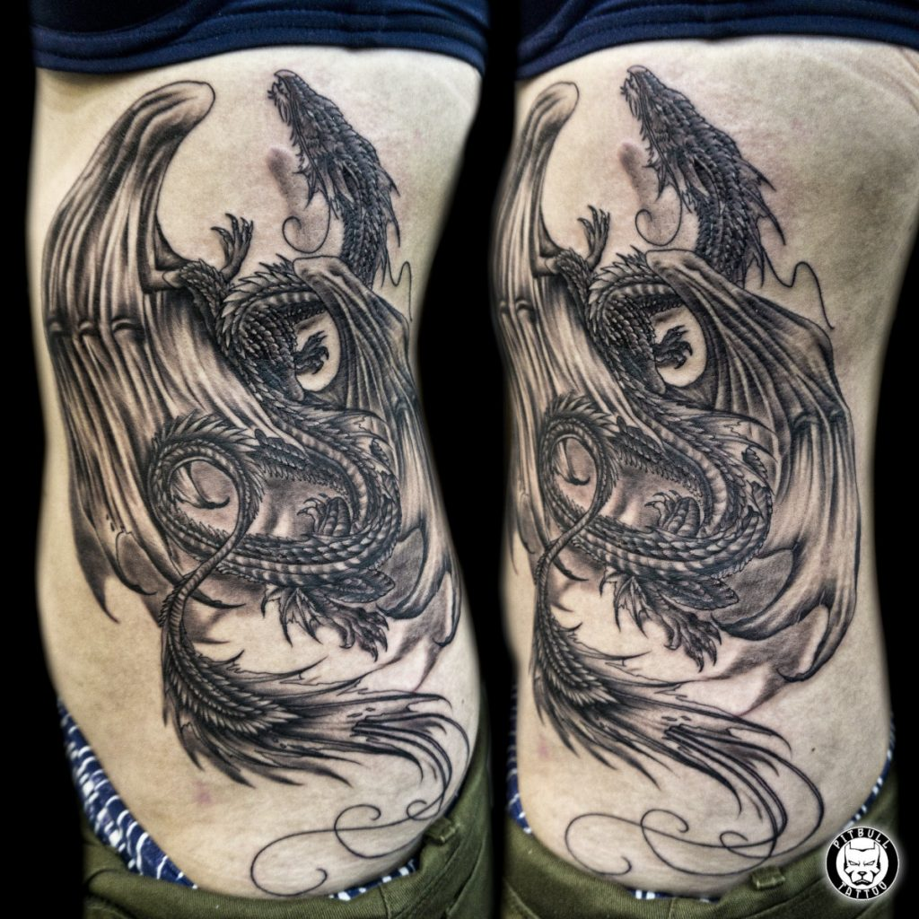 Tatuajes con Dragones Occidental