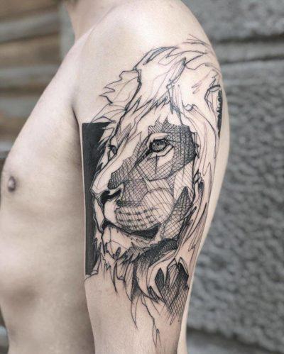 Tatuajes con Leones Brazo