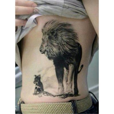 Tatuajes con Leones Costado