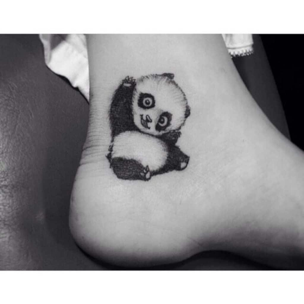 Tatuajes de Panda Talón