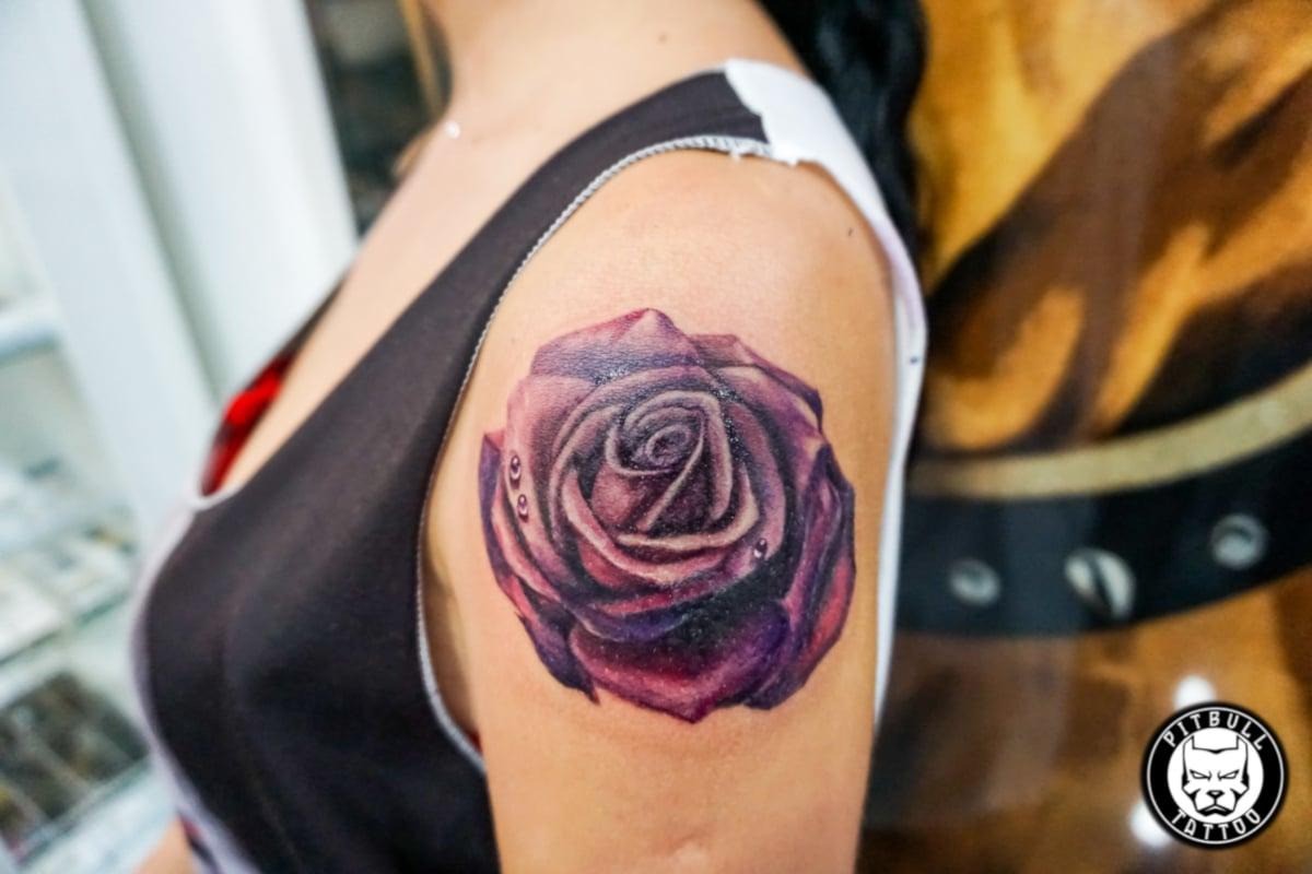 Tatuajes de Rosas Púrpura