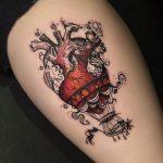 tatuaje corazón globo