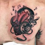 Tatuaje corazón real musical