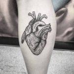 Tatuaje corazón real con sus partes