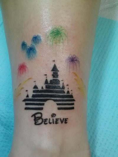 Tatuajes de Disney Castillo