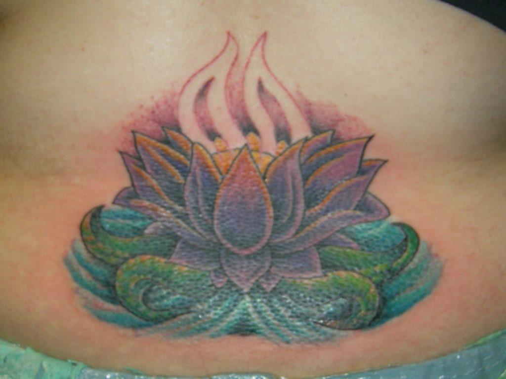 Flor de Loto Azul Espalda