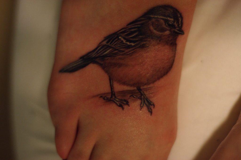Tatuaje de Gorrión