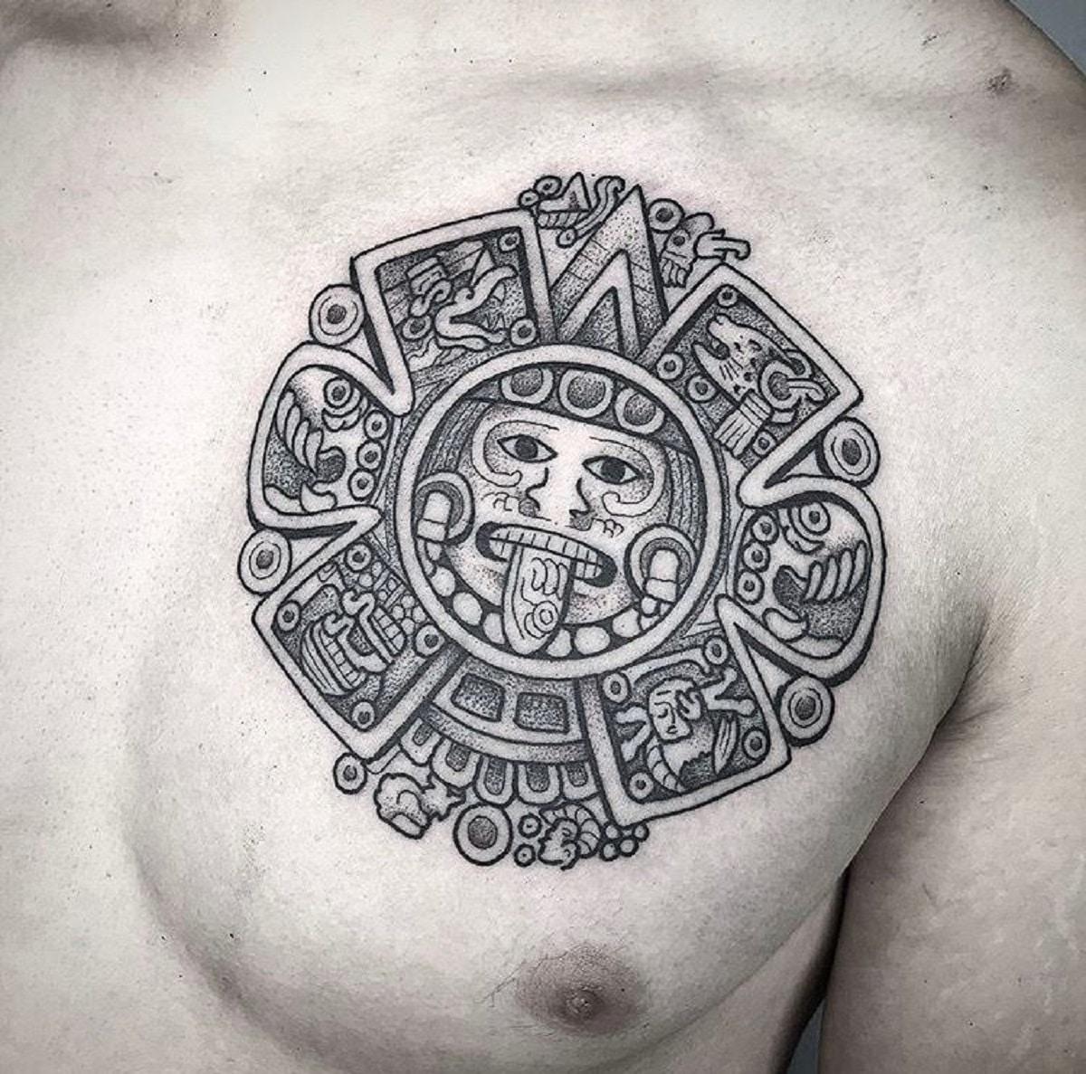 tatuaje tribales maya