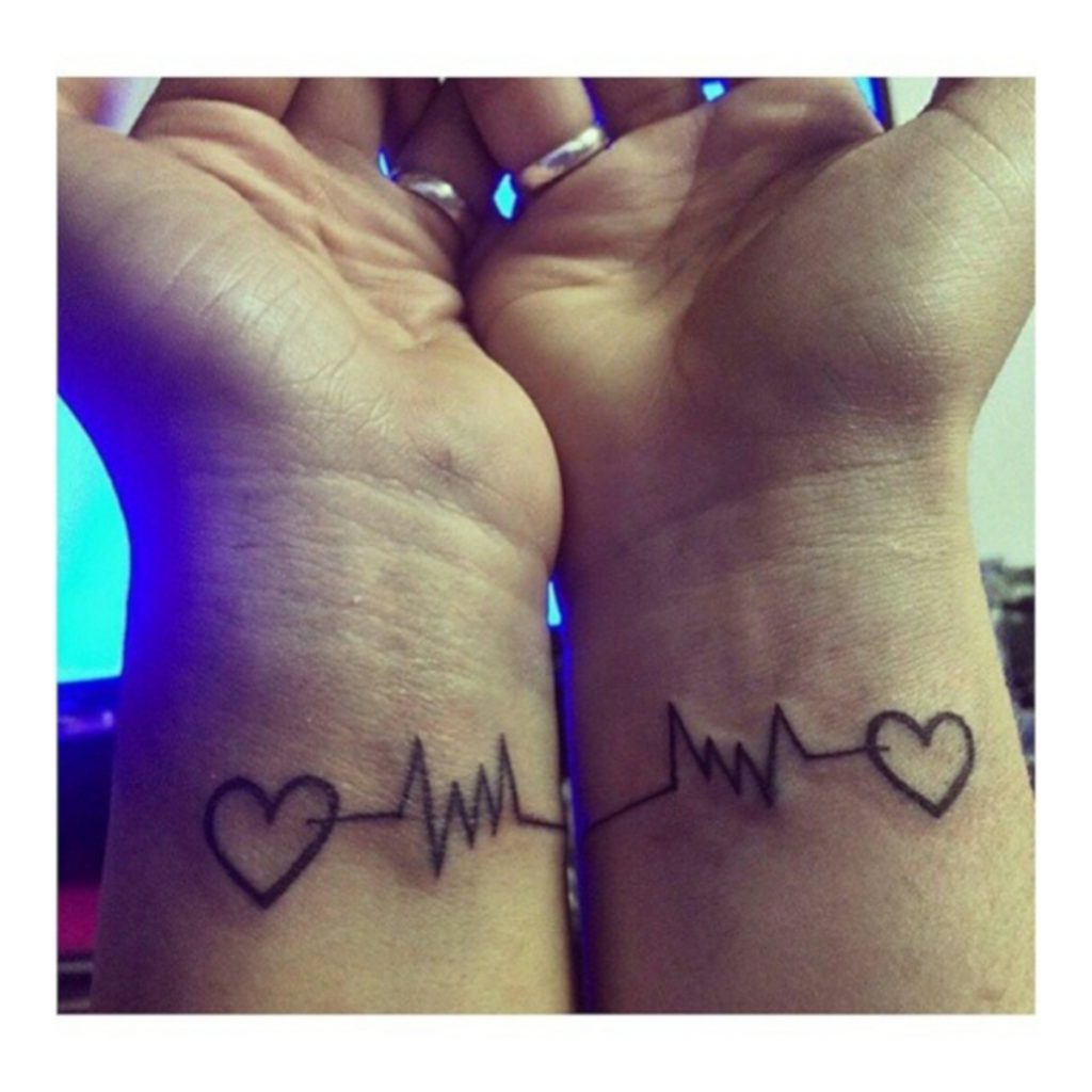 Tatuajes para Pareja de Amor Eterno Corazón