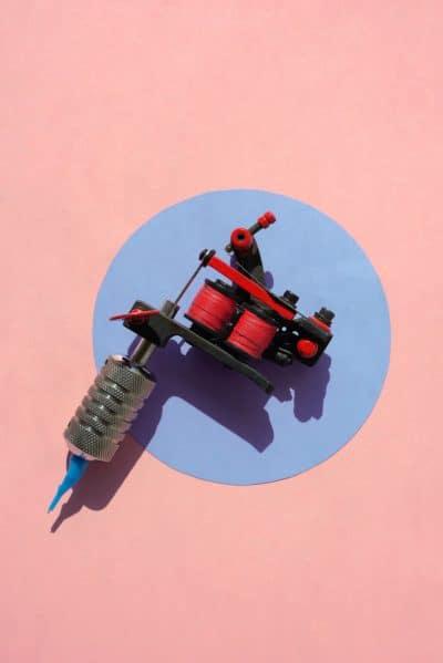 Máquina de Tatuar Rotativa Rosa