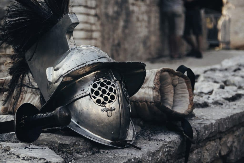 Tatuaje de Gladiador Armadura