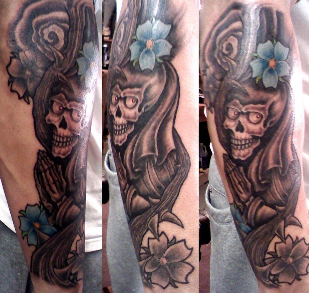 Tatuaje Virgen Calavera