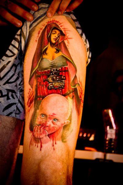 Tatuaje Virgen Dinam