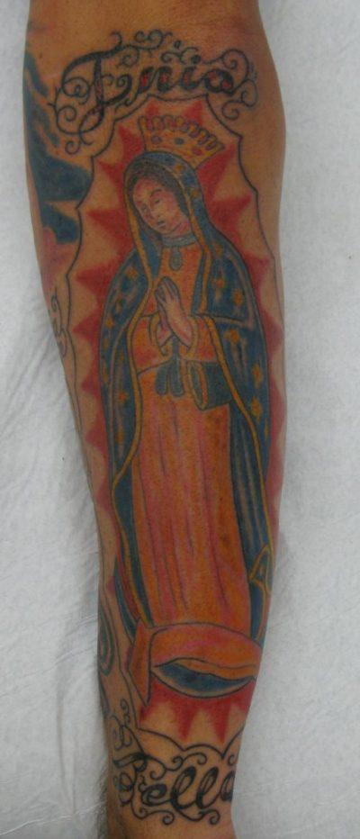 Tatuaje Virgen Guadalupe