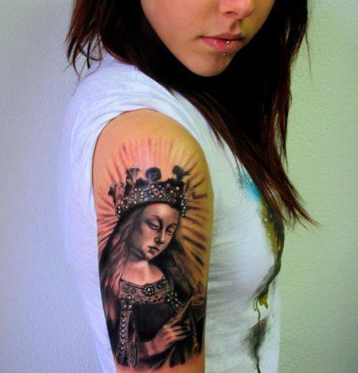 Tatuaje Virgen Retrato