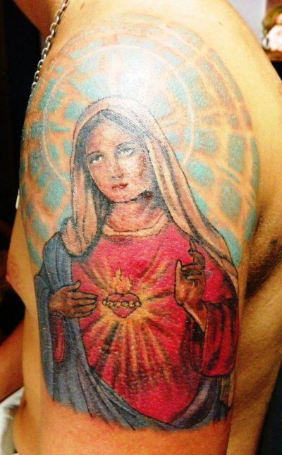 Tatuaje Virgen Sagrado