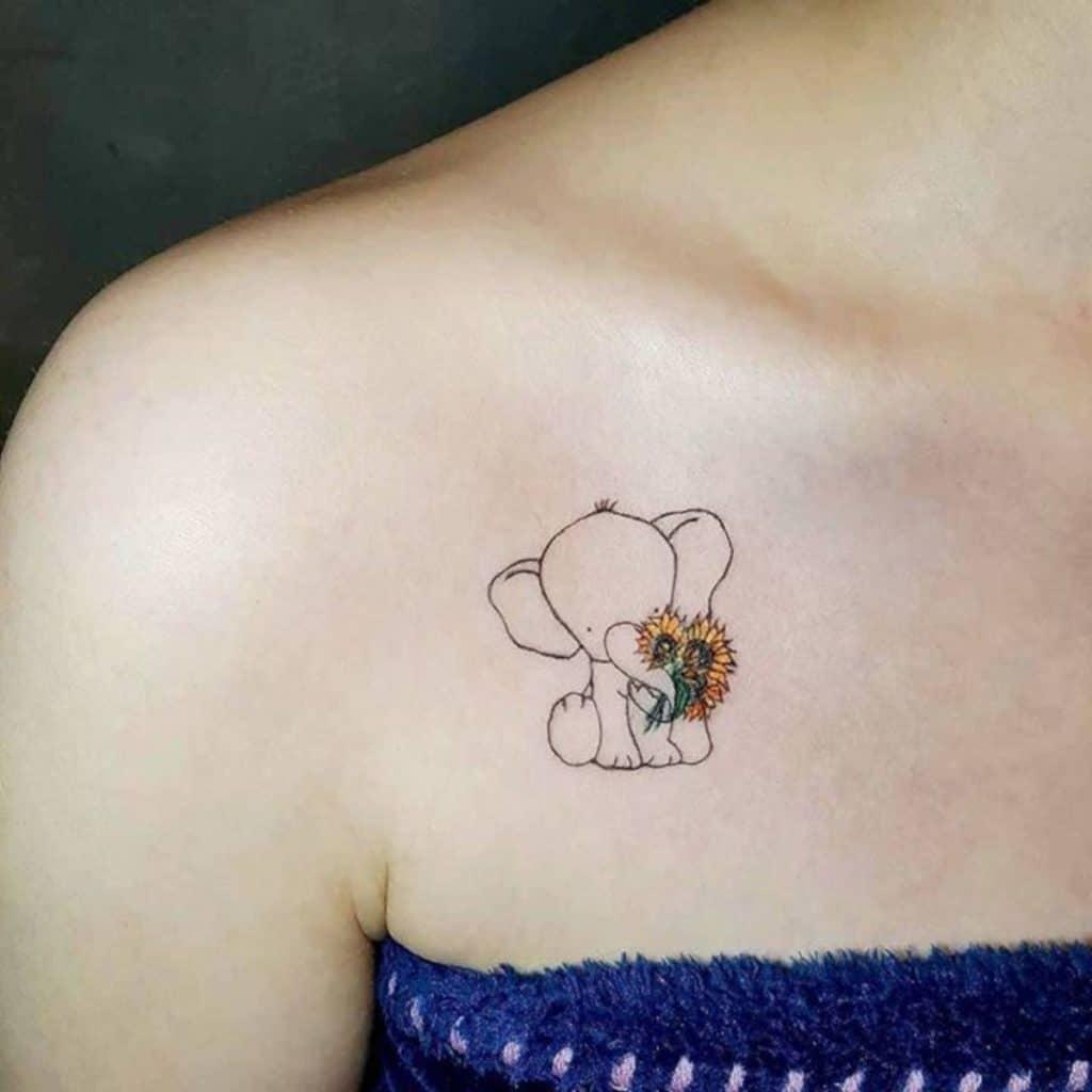 Tatuajes 5x5 Elefante