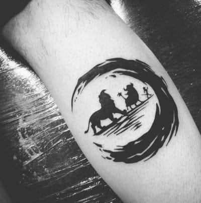 Tatuajes de Círculo Japonés Rey León