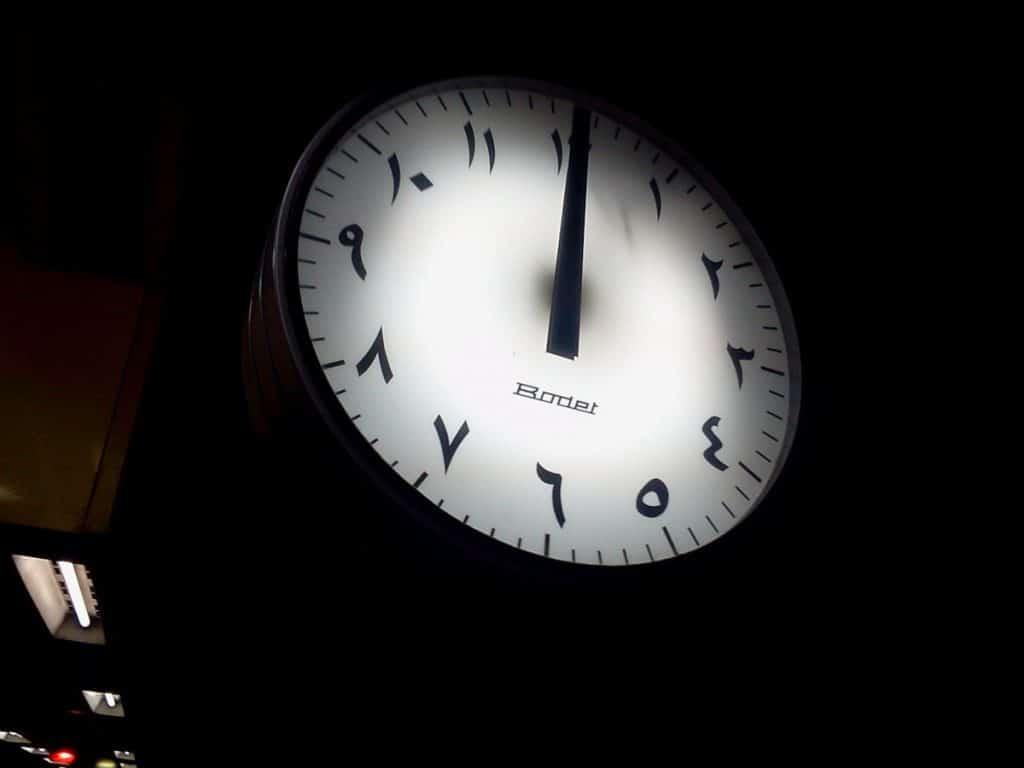 Tatuajes de Números Árabes Reloj