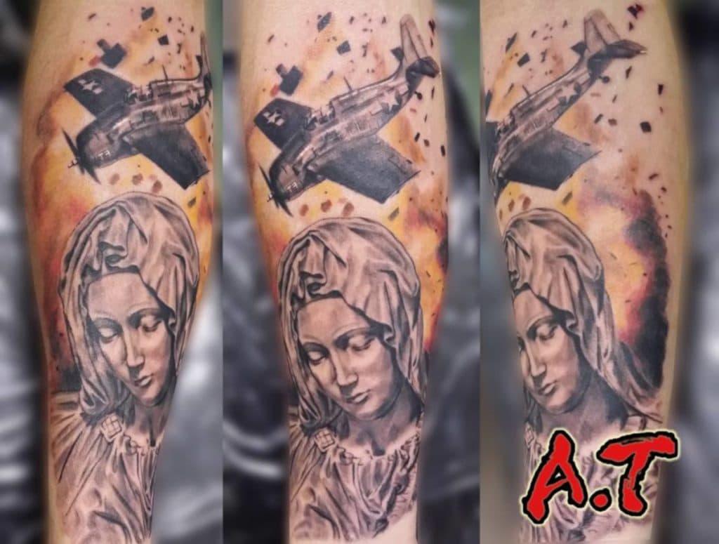Tatuajes de Virgen Guerra