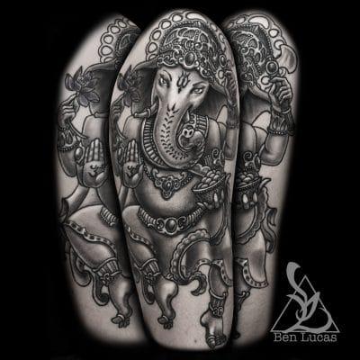 Tatuajes de Yoga Ganesha