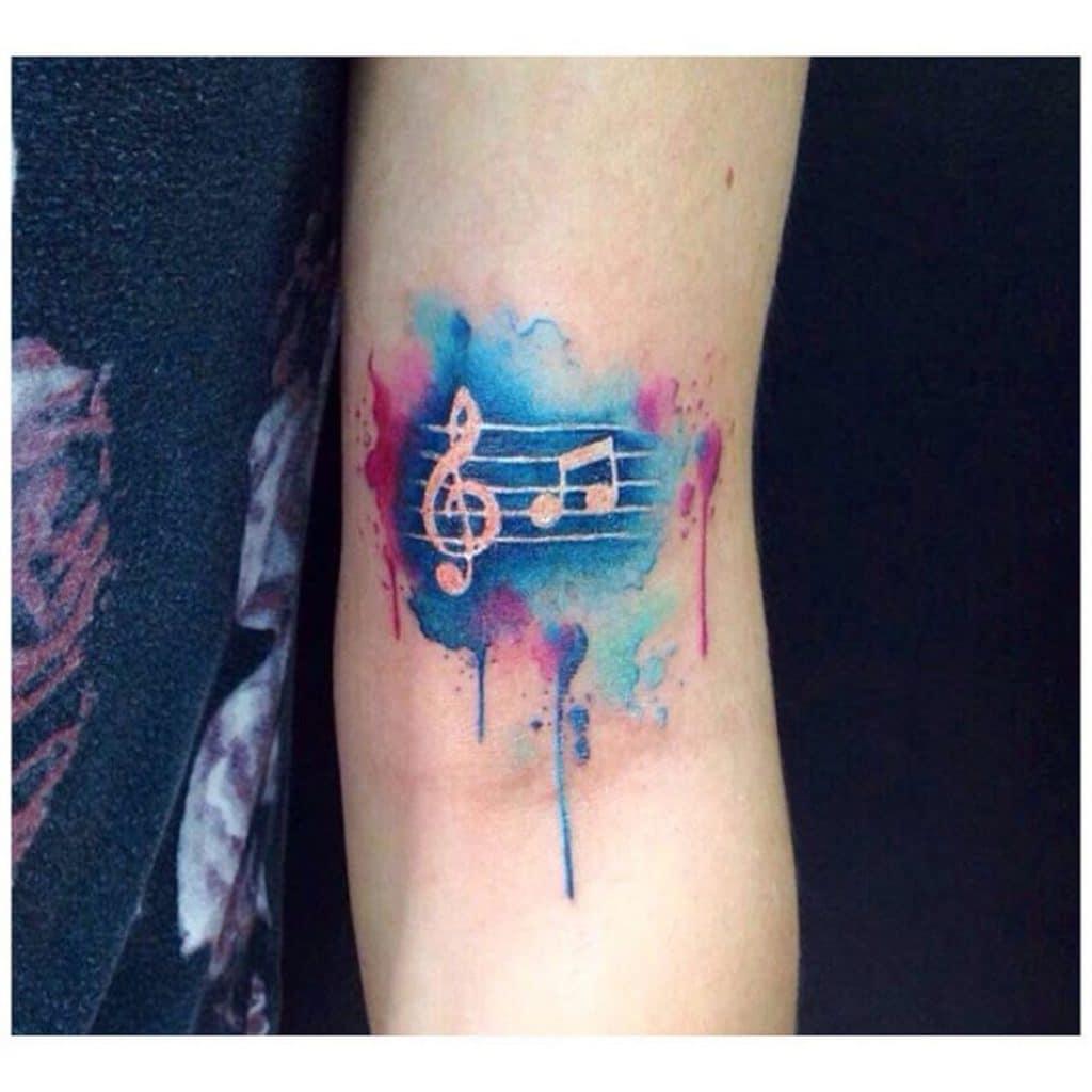Tatuajes Pequeños de Música Partitura