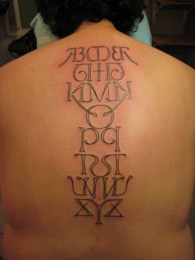 Letras para Tatuajes Abecedario