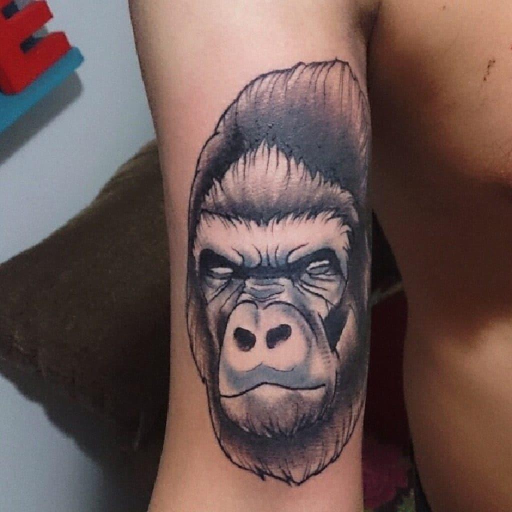 Tatuaje Gorila Brazo
