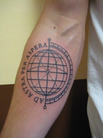 Tatuajes de la Tierra Geométrica