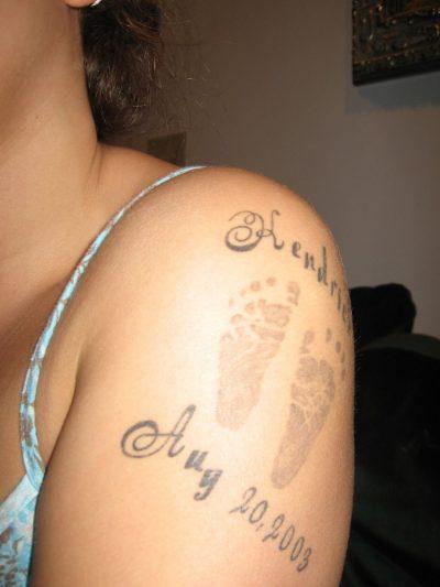 Tatuajes de Nombres de Hijos Fecha