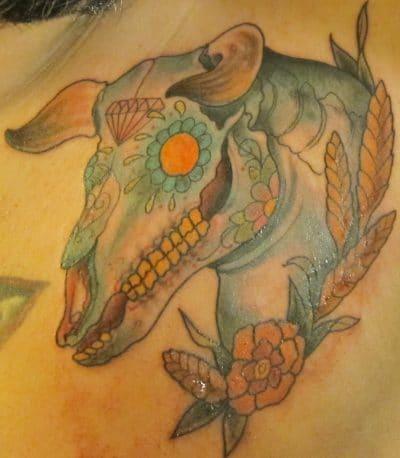 Tatuajes de Toros Calavera