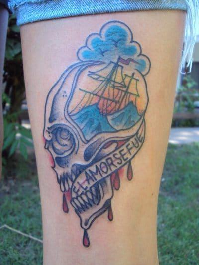 Tatuajes de Veleros Calavera