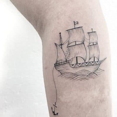 Tatuajes de Veleros Grande