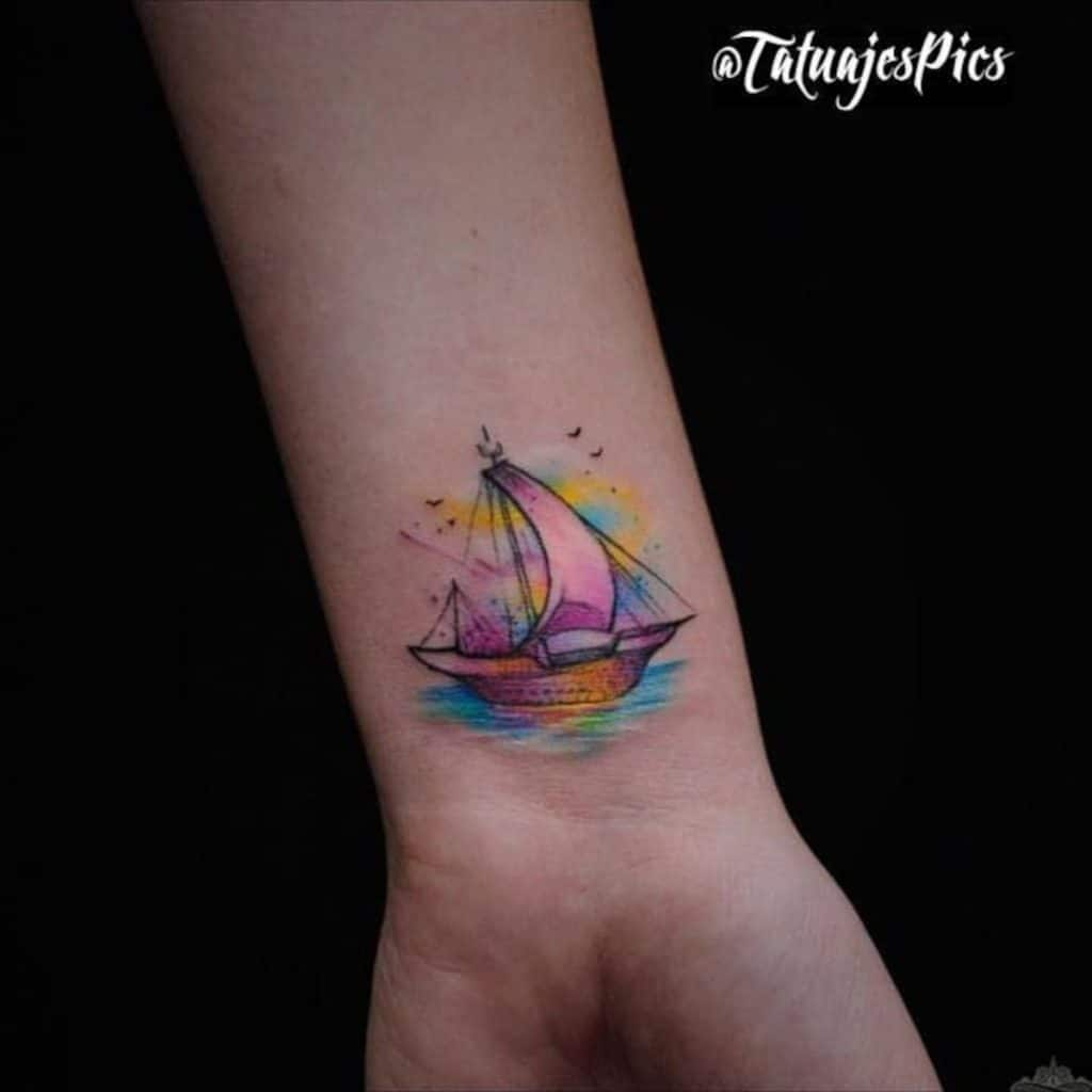 Tatuajes de Veleros Pequeño