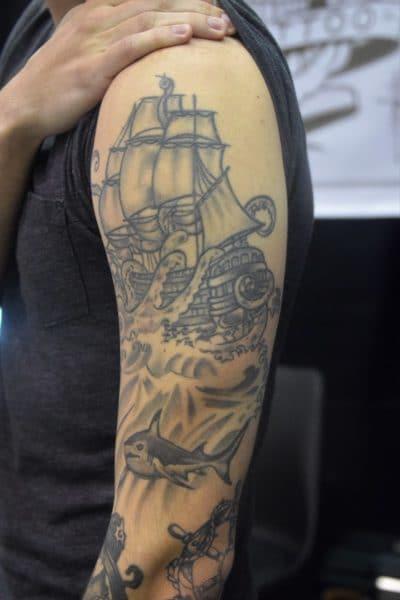 Tatuajes de Veleros Pulpo